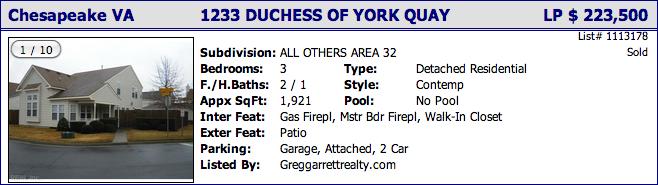 1233 Duchess of York Quay, Chesapeake