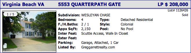 5553 Quarterpath Gate, Virginia Beach